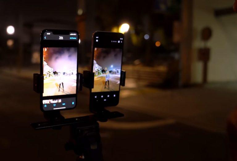 iPhone 11 Pro Max vs Google Pixel 3 gece modu karşılaştırması
