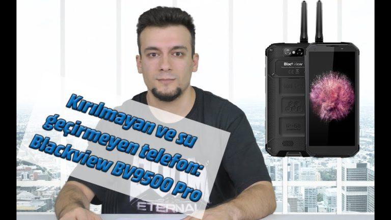 Kırılmayan ve su geçirmeyen telefon: Blackview BV9500 Pro