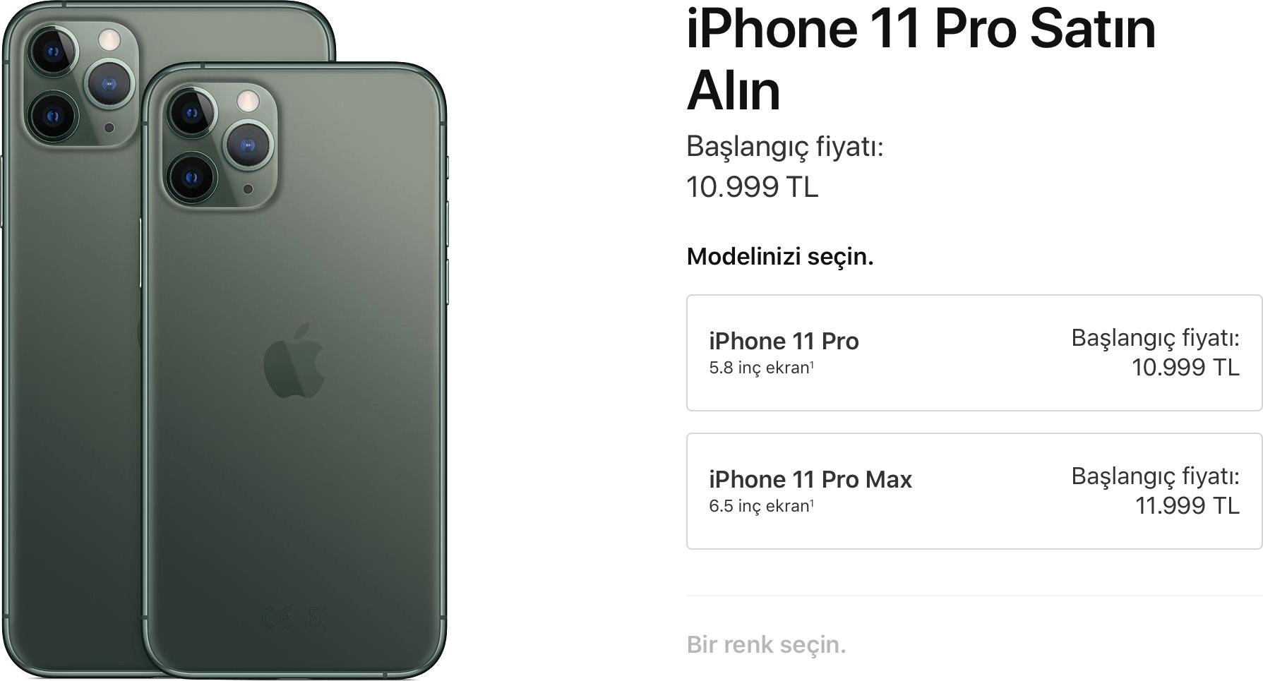 iPhone 11 Türkiye fiyatı
