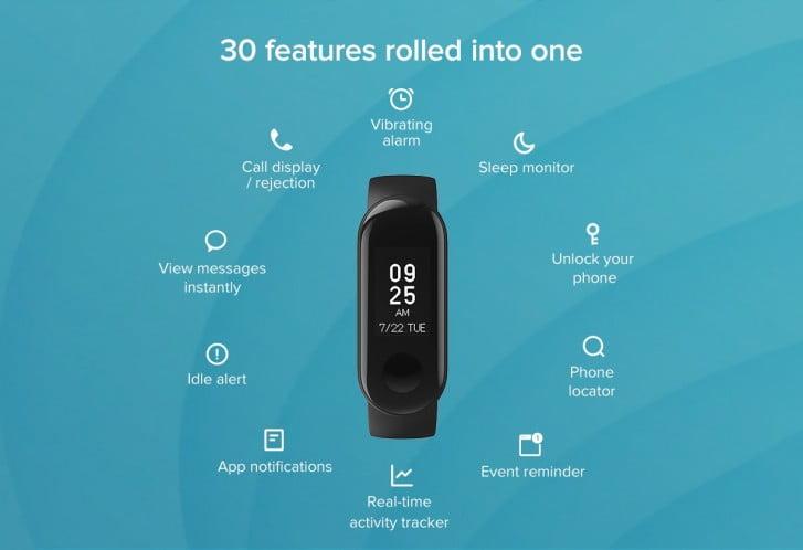 Xiaomi'den 18 dolarlık akıllı bileklik Mi Band 3i