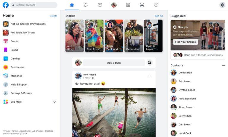 Yeni Facebook tasarımı yayına girdi