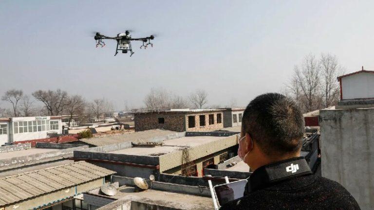 Corona virüsle mücadele için drone kullanılacak