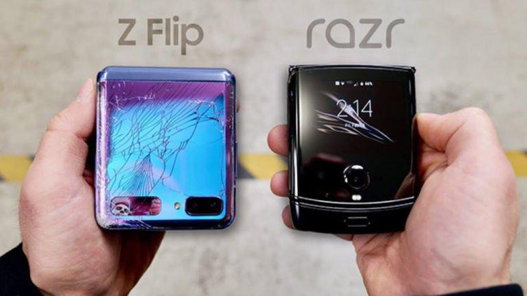 Galaxy Z Flip ile Motorola Razr düşme testinde kozlarını paylaştı! Hangisi daha sağlam?
