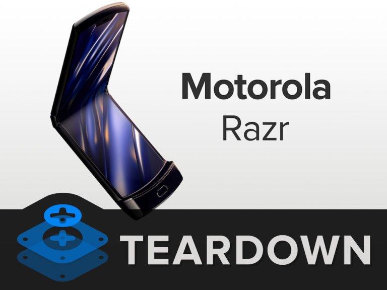 Motorola Razr parçalarına ayrıldı! Tamiri çok zor!
