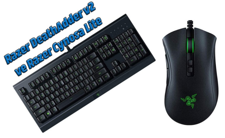 Razer DeathAdder v2 gaming mouse ve Razer Cynosa Lite gaming klavye