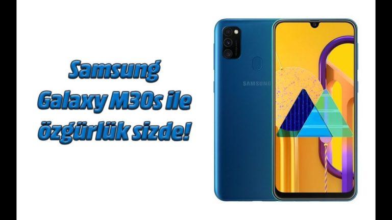 Samsung Galaxy M30s ile özgürlük sizde!