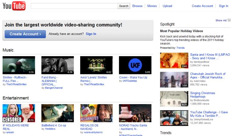 YouTube klasik tasarımını öldürüyor