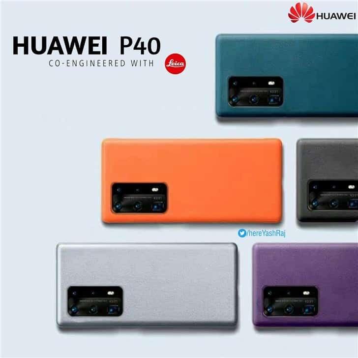 Huawei P40 yeni renkleri ile cıvıl cıvıl görünüyor!