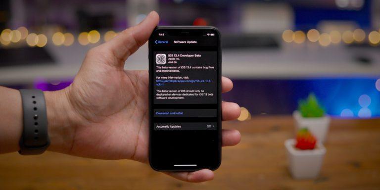 iOS 13.4 Beta 4 güncellemesi çıktı!