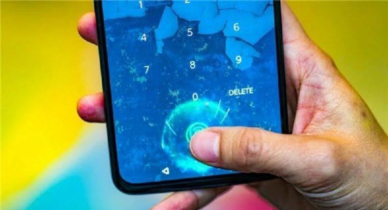 Ekran altı parmak izi okuyucusu için yeni adım