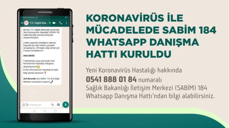 Türkiye'de Koronavirüs ile mücadele için WhatsApp Danışma Hattı kuruldu!