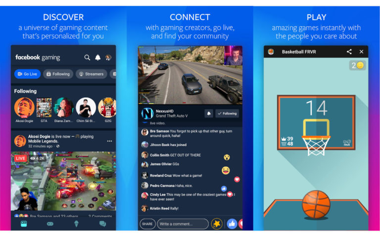 Facebook Gaming uygulamasını piyasaya sürüyor