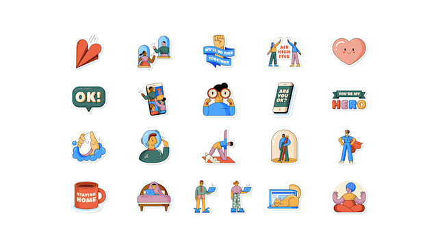 WhatsApp sosyal mesafe sticker'ları yaptı