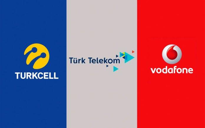 Turkcell Vodafone ve Türk Telekom