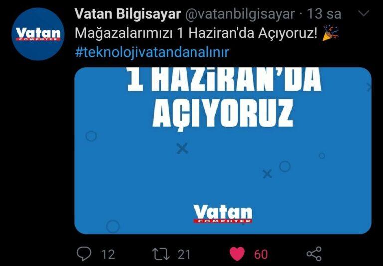 Vatan Bilgisayar, mağazalarını açma kararı aldı!