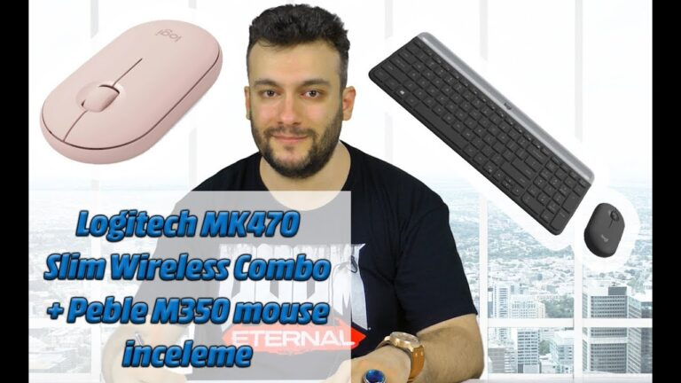 Logitech MK470 Slim Wireless Combo + Peble M350 mouse inceleme