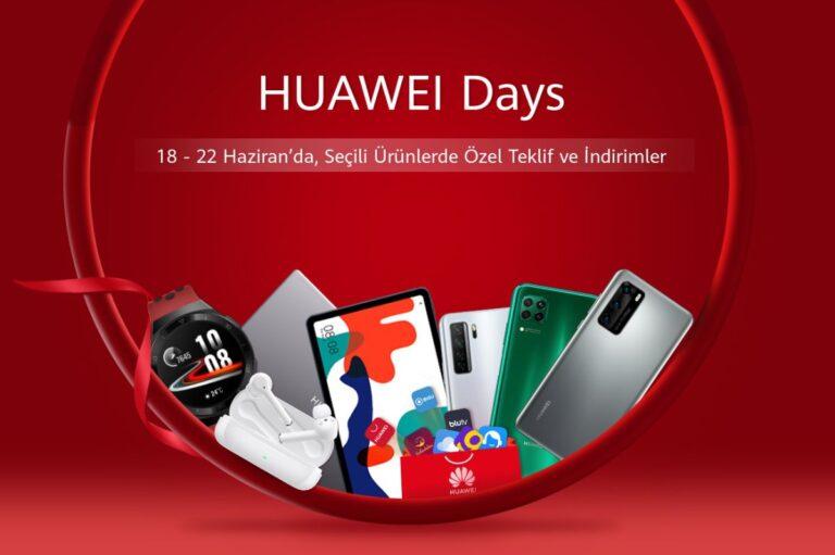 Huawei Days özel tekliflerle kullanıcıları bekliyor