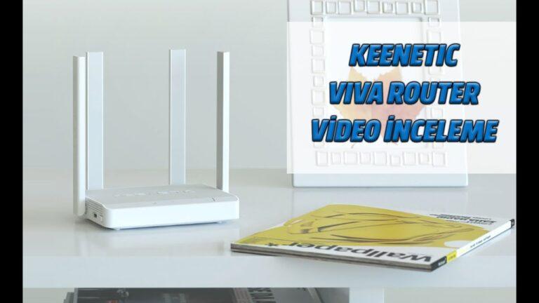 Keenetic Viva Router ile hızlı ve güvenli kablosuz bağlantı!