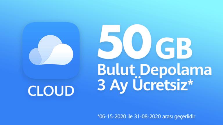 Ücretsiz 50 GB Huawei Bulut Depolama!