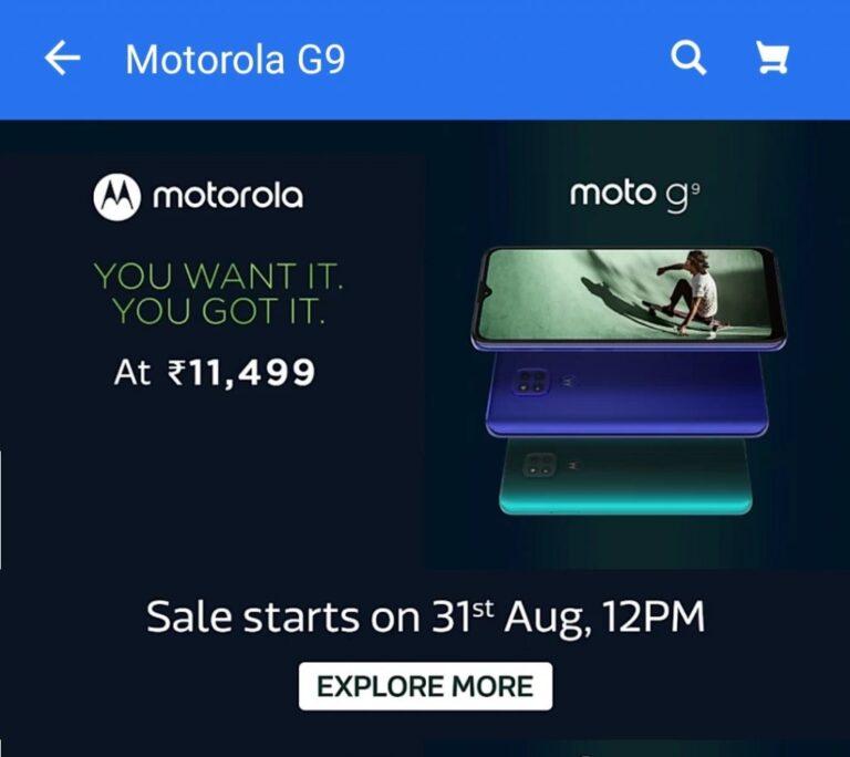 Moto G9 özellikleri ile karşımıza çıktı!