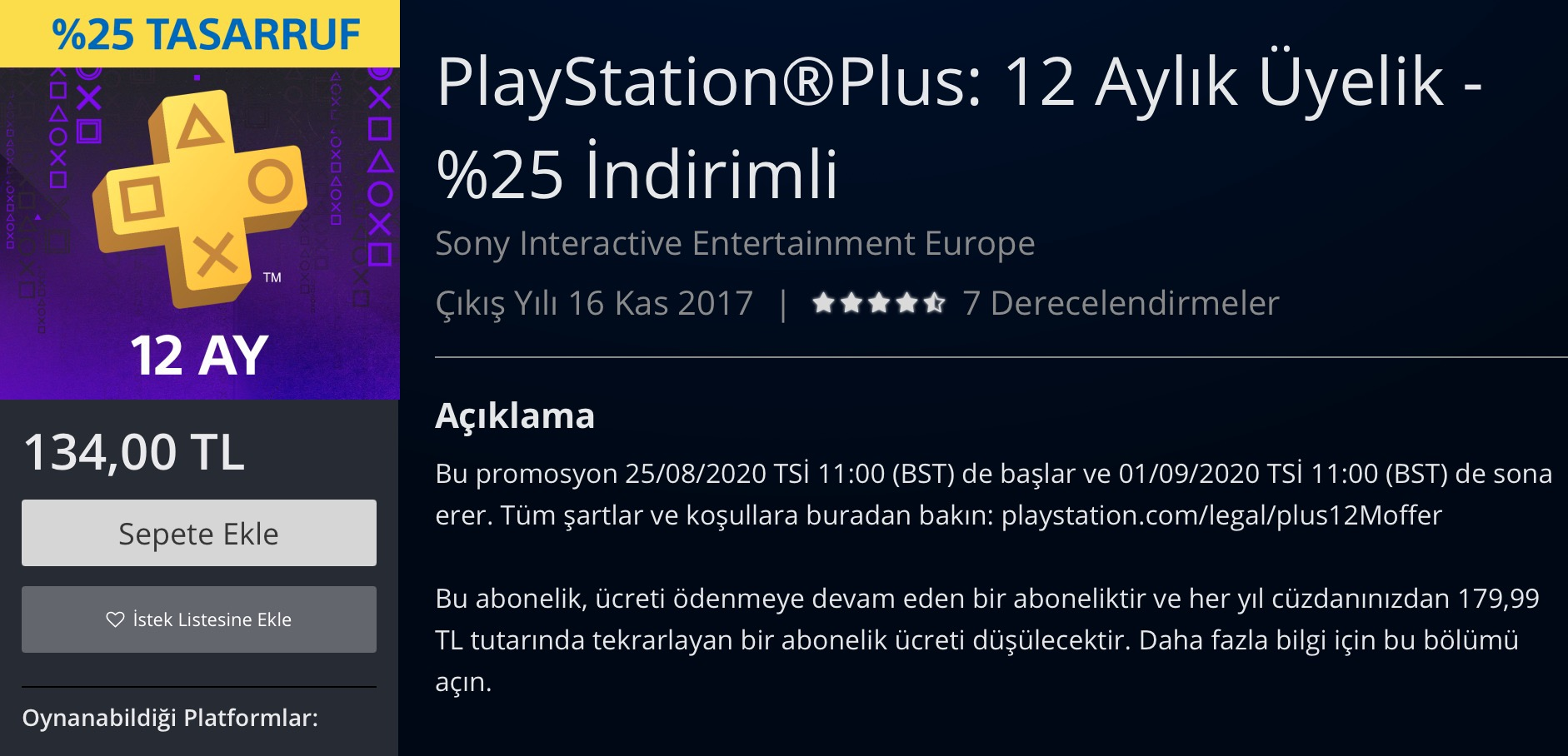 PS Plus Türkiye
