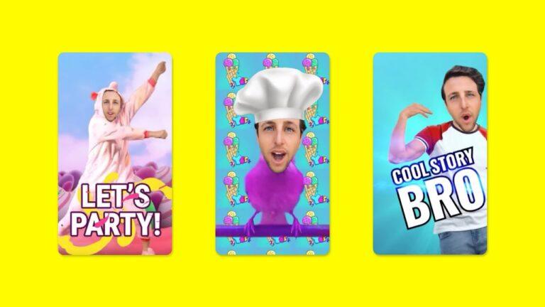 Snapchat kullanıcı yüzünü animasyonlu sticker'a çeviriyor