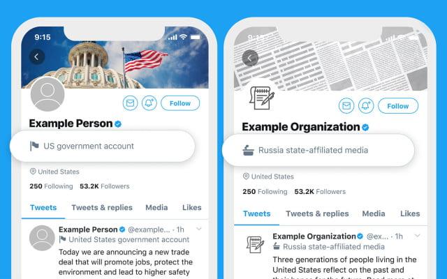 Twitter devlet destekli hesapları işaretleyecek