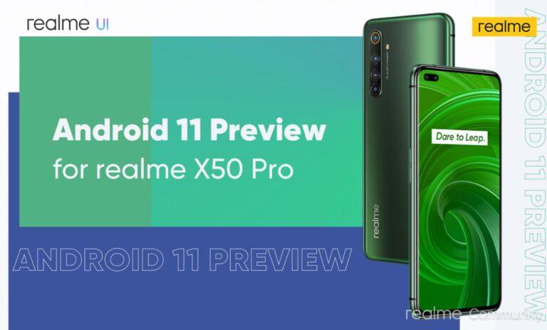 realme X50 Pro için Android 11 müjdesi!