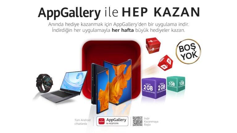 AppGallery hediyeler dağıtıyor! Huawei Mate Xs kazanabilirsiniz!