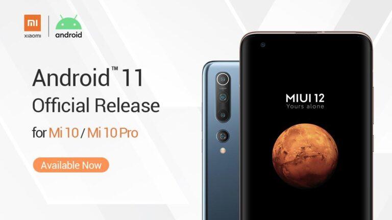 Xiaomi Mi 10 için Android 11 yayınlandı!