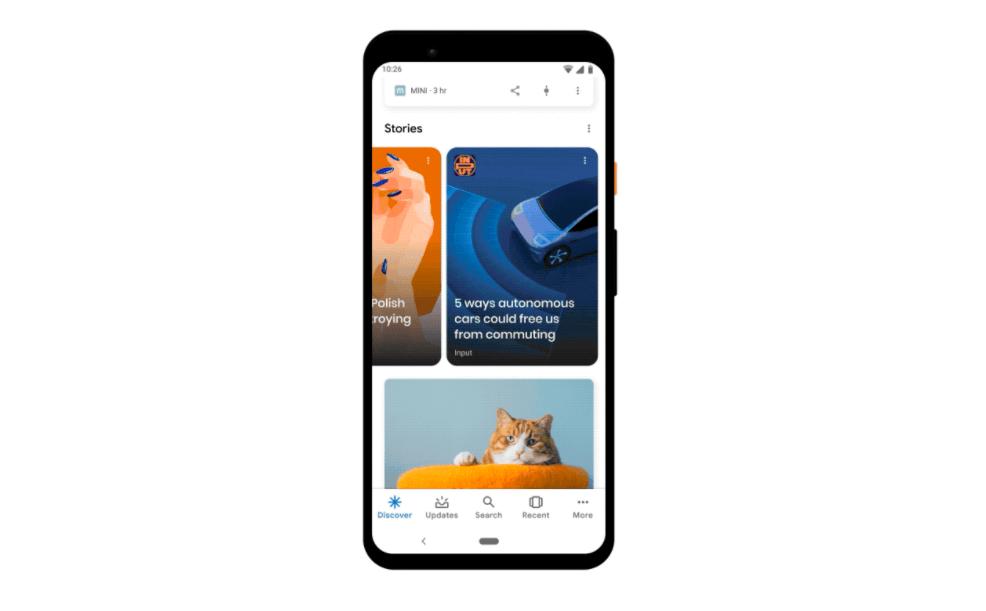 Google uygulaması hikayeler özelliği