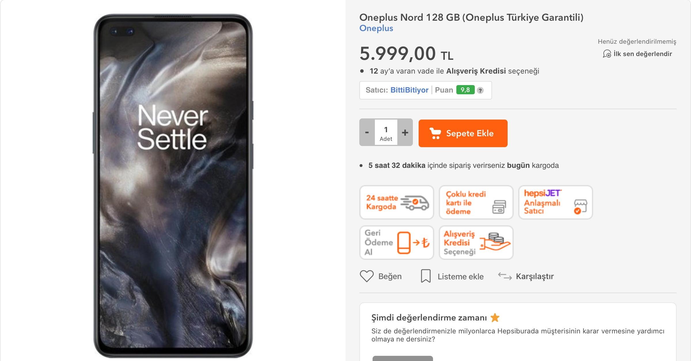 OnePlus Nord Türkiye