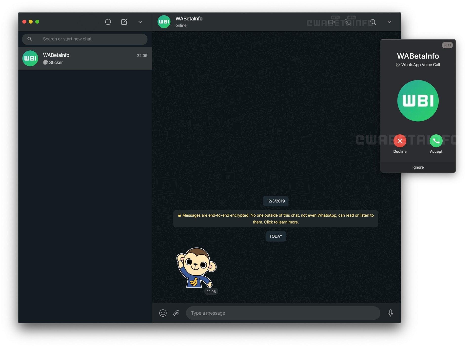 WhatsApp Web görüntülü görüşme