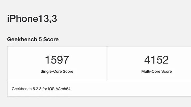 iPhone 12 Pro Geekbench