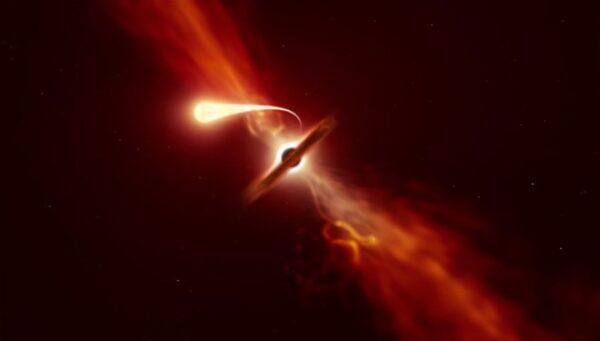 Kara delik bir yıldızı kayıt altında yuttu