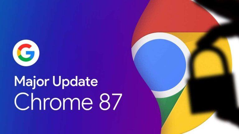 Google Chrome 87 bu yeniliği ile dikkat çekiyor