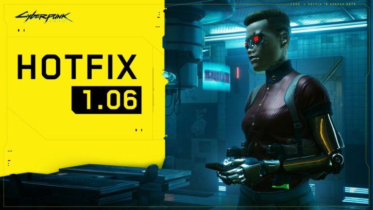Cyberpunk 2077 1.06 güncellemesi çıktı