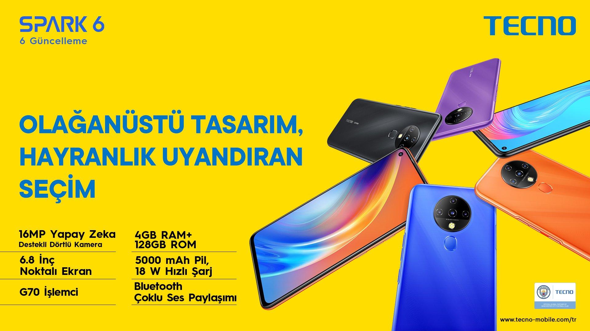 TECNO Mobile Camon 16 Premier ile ileri düzey kamera Türkiye'de