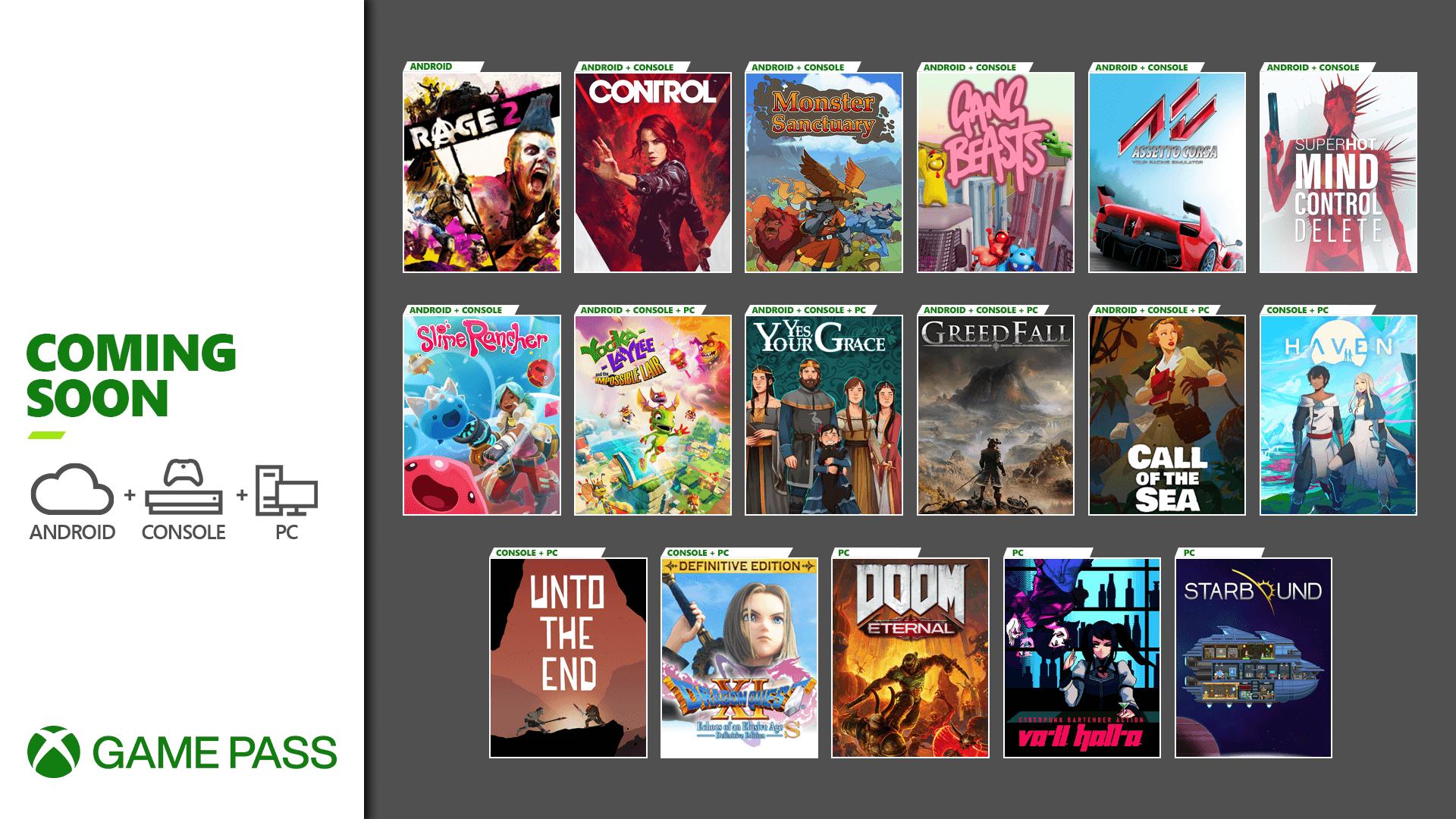Xbox Game Pass Control