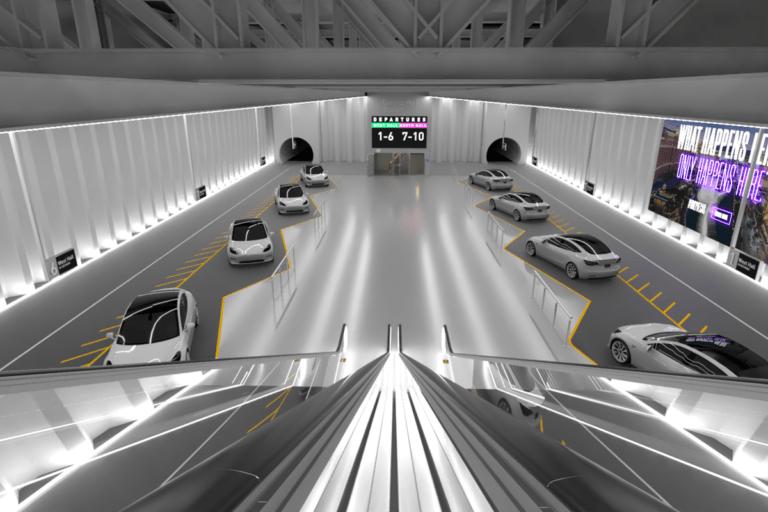 Elon Musk Las Vegas tünelinin içini gösterdi