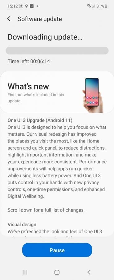 Galaxy Z Flip için Android 11