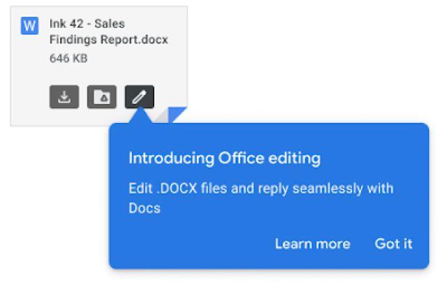 Gmail ofis dokümanlarını editleyebilecek