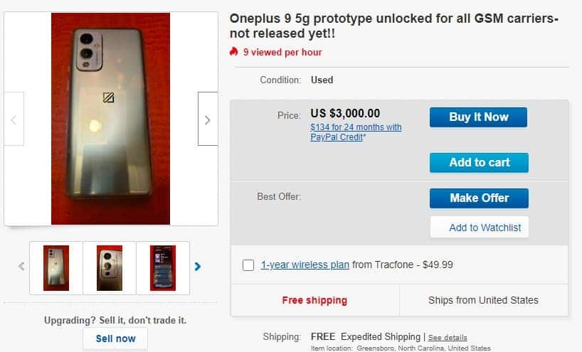 OnePlus 9 prototipi