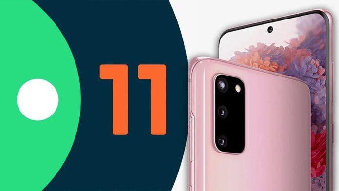 Galaxy 20 için Android 11