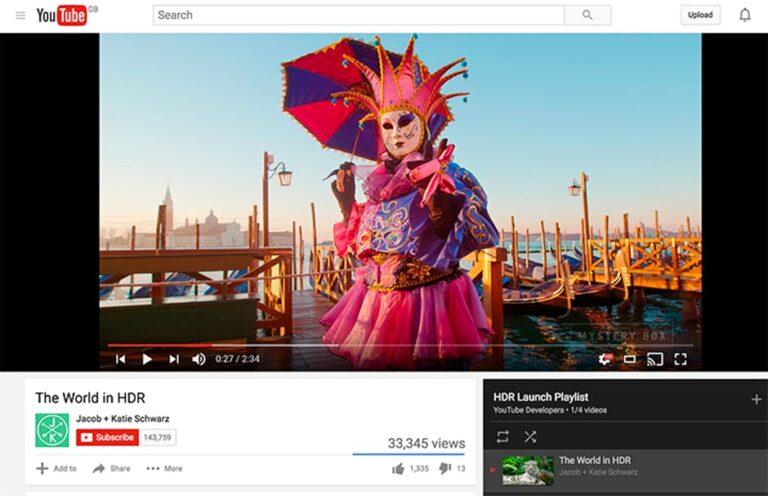 YouTube HDR canlı yayın seçeneği sunacak