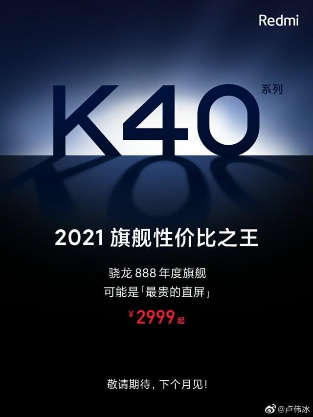 Xiaomi Redmi K40 fiyatı ve tarihi belli oldu