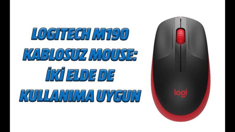 Logitech M190 kablosuz mouse: İki elde de kullanıma uygun