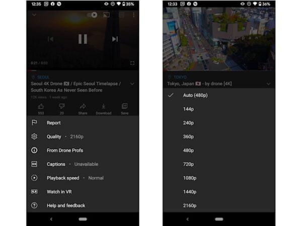 YouTube Android uygulaması artık 4K HDR videoları oynatabilir
