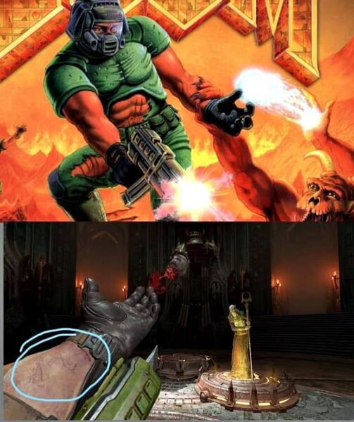Doom Eternal'de geçmişe dair bir iblis işareti keşfedildi