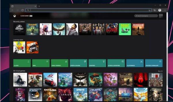 Microsoft, Xbox bulut oyunlarını web'de test etmeye başlıyor